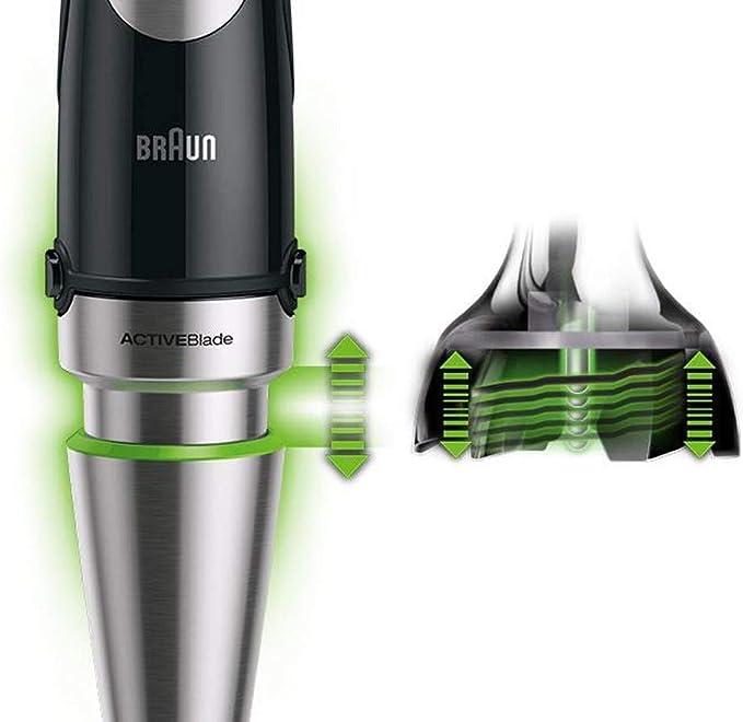 Braun Minipimer 9047 - Batidora de mano, 1000 W, 5 accesorios ...