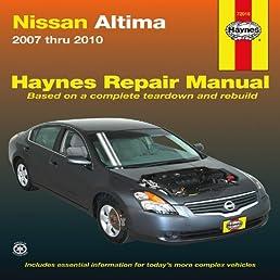 nissan altima 2007 thru 2010 haynes repair manual john haynes rh amazon com nissan altima service manual 2010 2010 nissan altima service manual pdf