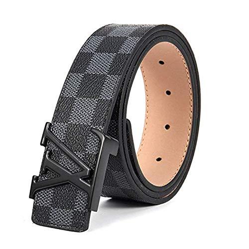 Shannon S Isom Belt for Women Men Replica Faux Black Belts for Womens Mens Fashion Leather ()