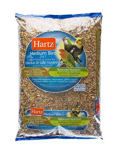 (Hartz Cockatiel, Lovebird, Small Conure Medium Bird Food -10Lb)