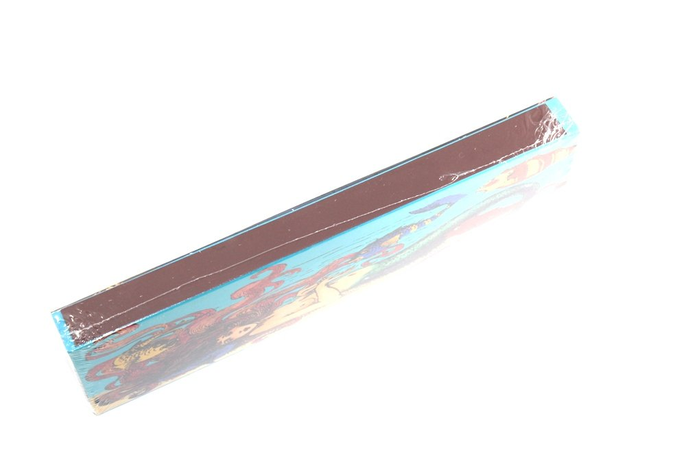 Rectangle Box Matches Wooden Matches Decorative Image on Both Sides Colored Match Tips Strike Strip on Side of Box 16 Century Watercolor