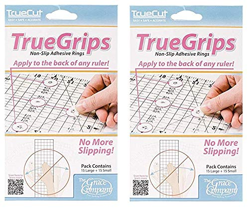 Crafters Workshop TrueCut Non-Slip Ruler Grips 30//Pkg