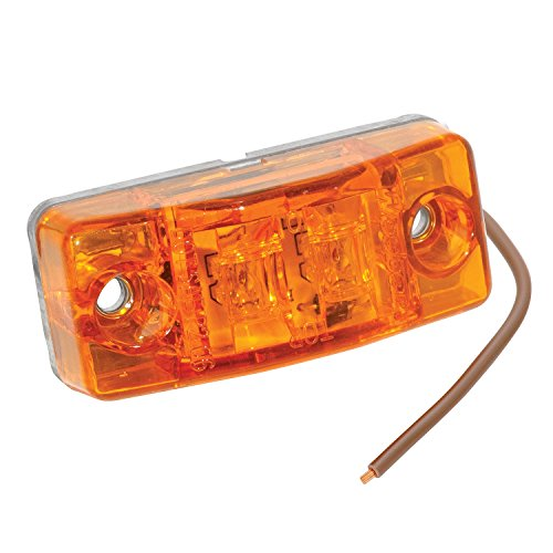 Fulton Bargman 47-99-402 Waterproof LED Clearance/Side Marker Light (with Self-Ground Stud - Amber)