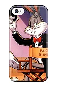 Kevin Charlie Albright's Shop 9065625K29391149 Scratch-free Phone Case For Iphone 4/4s- Retail Packaging - Bugs Bunny