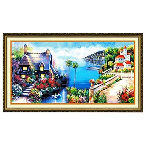 DIY Cross Stitch,Sets For Embroidery Kits,Mediterranean Land