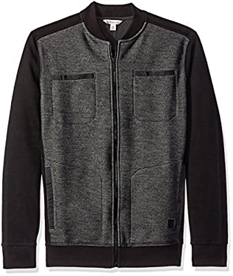 Calvin Klein Jeans Men's Full Zip Moto Sweater