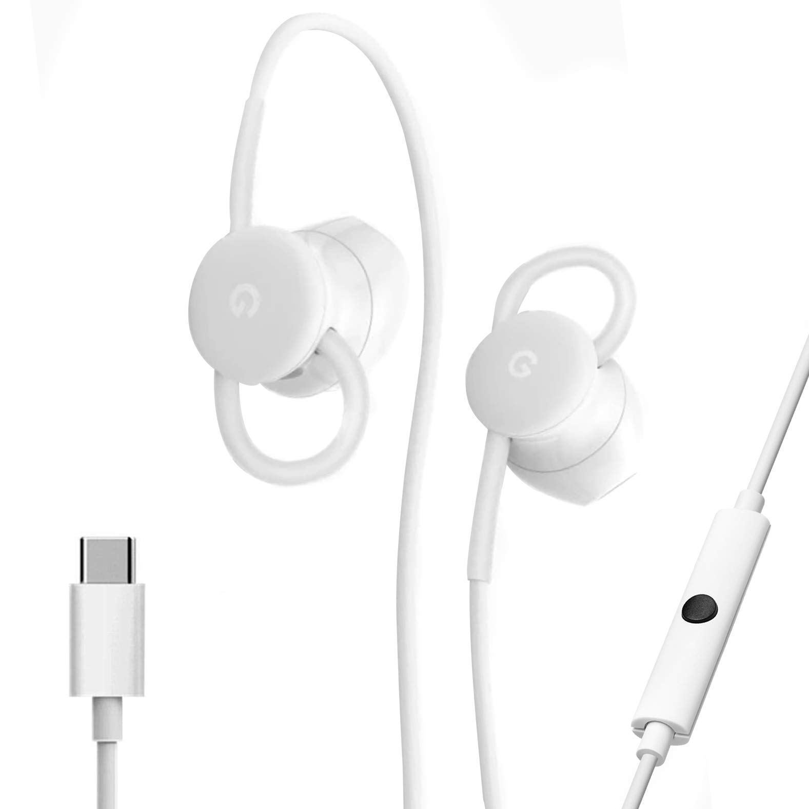 USB-C Earbuds, USB-C to 3.5mm Adapter, USB-C to USB 3.0 Adapter, for Google Pixel Devices - Accessory Combo Kit by Phihong Technology co. (Image #2)