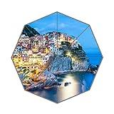 Most Beautiful Town Italy Coast Art Custom Unique Durable Custom Foldable Umbrella