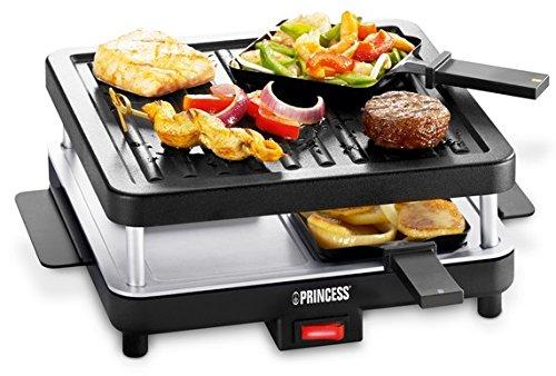 Princess Party 4 Funcook - Set raclette con accesorios, color negro ...