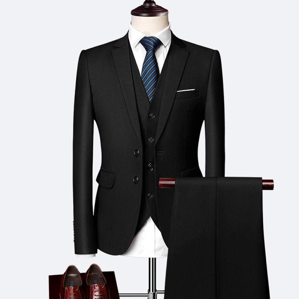 Suit Suit Male Spring and Autumn Custom Business Suit Jacket Three-Piece Suit//Slim Plus Size