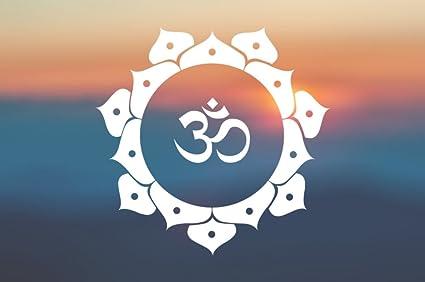 Mandala Om Peace Yoga - Vinyl Decal - Car Truck Laptop - SELECT SIZE