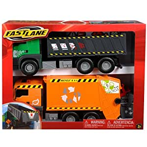 Amazon Com Fast Lane Dump Truck And Garbage Truck Toys