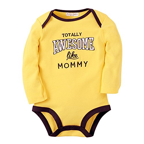 [Sanlutoz Baby Bodysuit Clothes Romper Boy Newborn Onesie Rompers Winter Spring Autumn (0-6m, R10 Yellow] (Awesome Toddler Halloween Costumes)