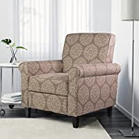 Ocean Bridge – Furniture Collection –  Adela Accent Arm Chair, Medallion Pattern, Grey