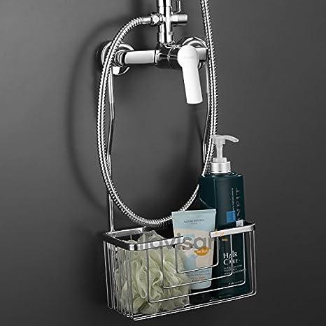 Cesta jabonera Acero Inoxidable para baño y ducha. Portageles sin taladros para baño y ducha