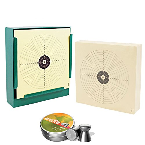 Kugelfang Flach 14x14 cm inkl. 100 Zielscheiben und 500 Diabolos