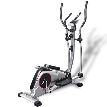 Festnight Bicicleta Elíptica XL Carga en Movimiento de 18 kg Color Plateado Tamaño 130 x 55