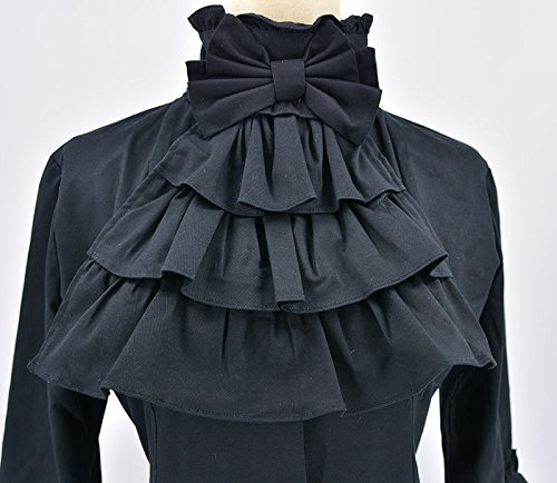 Nite closet Gothic Dresses for Women Long Sleeves Multi Layers Classic Lolita Black Vintage 5