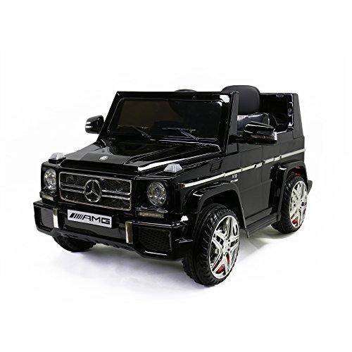 Licensed G65 Mercedes-Benz, Kids Ride on Powered Car 12V & Remote Controller, Black, MARTIN (Kids Power Rangers Operation)