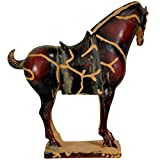 """Oriental Furniture 13"""" Chinese Tang Tomb Horse Statue"""