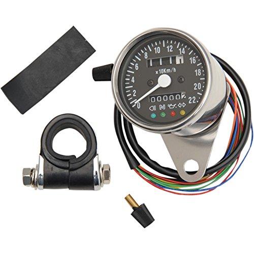 ドラッグスペシャリティーズ(DRAG SPECIALTIES) 2.4インチスピードメーター機械式 LEDインジケーターつき 1:1 180km/h表示 黒パネル P-2210-0207 機械式 LEDインジケーターつき 1:1 180km/h表示 黒パネル P-2210-0207  B00REG13TK