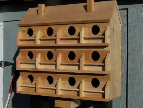- Purple Martin Deluxe Birdhouse with 12 Seperate Compartments Large