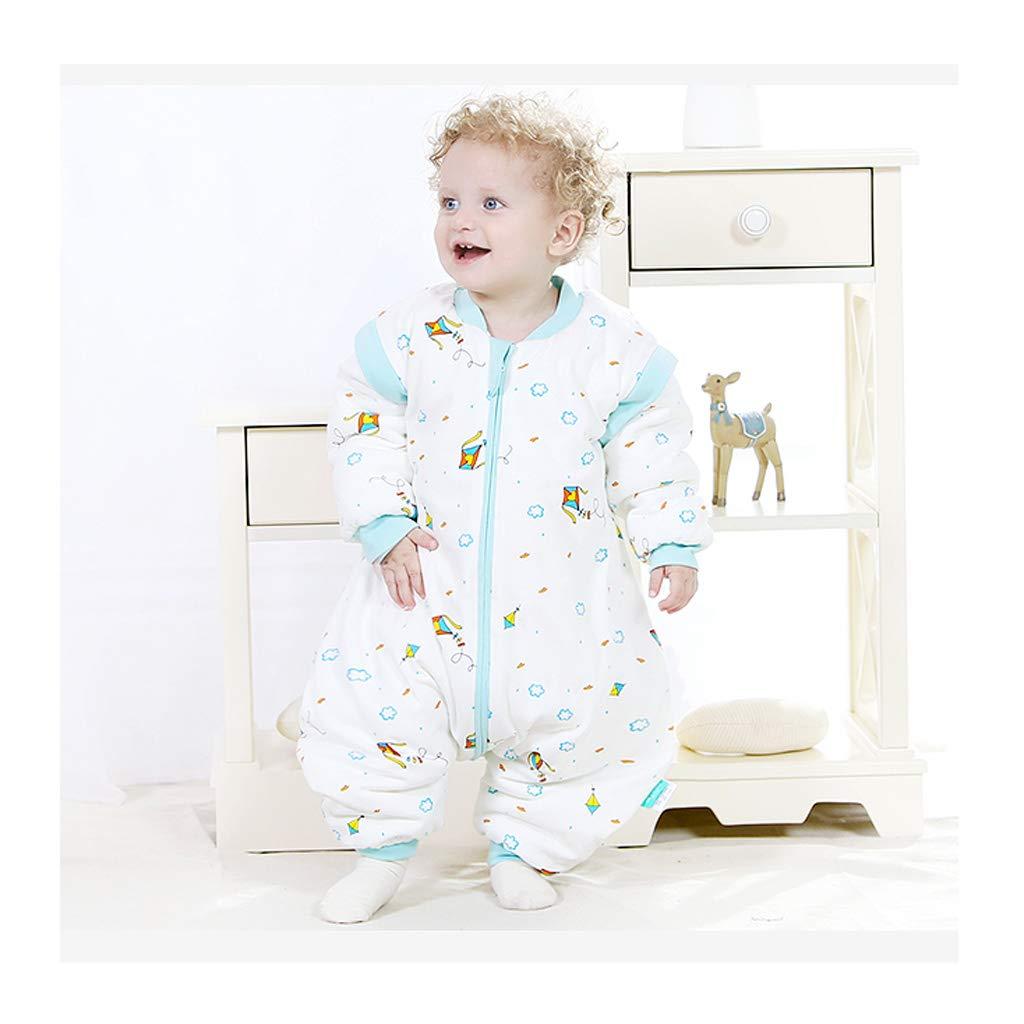Schlafsack für Kinder Wolaoma Baumwolle Baby Schlafsack Baby Winter super dicken Anti-Kick-Schlafsack (Farbe   C, größe   L)