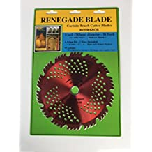 "1 Blade 8""-56t -- RENEGADE BLADE ""RAZOR"" / HYBRID -- COMBO Specialty -- GS1 Barcode Shelf Hanging Blister Pack -- Carbide Brush Cutter weed eater Blades, 203mm diameter"