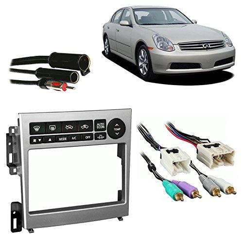 Fits Infiniti G35 Coupe 2005-2007 DDIN Stereo Harness Radio Install Dash Kit -