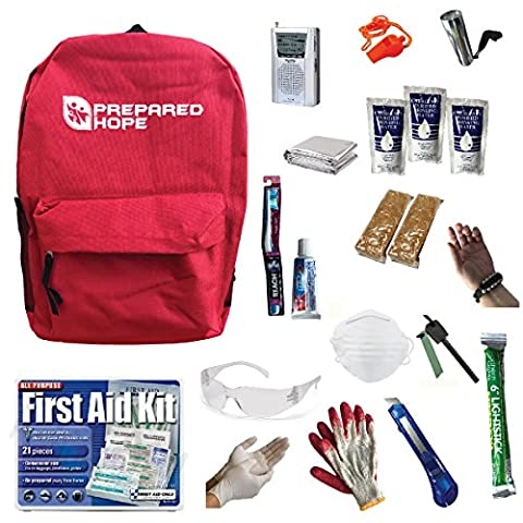 ESSENTIALS Emergency Survival Kit for House Fires, Earthquakes, Hurricanes, Torandoes, Stranded Cars, and Bug-Outs with - 3 Day Emergency Survival Kit
