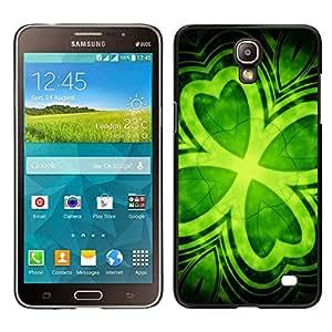 TopCaseStore / la caja del caucho duro de la cubierta de protección de la piel - Leaf Clover Green Ireland St Patrick'S - Samsung Galaxy Mega 2