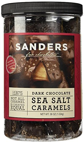 Salted Caramel - Sanders Dark Chocolate Sea Salt Caramels 36 Ounce Container