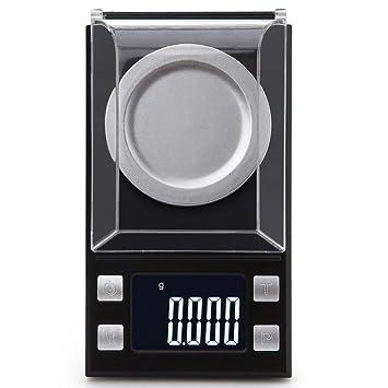 Báscula De Bolsillo Digital Báscula De Miligramo 100 X 0.001g Báscula De Joyería Recargable Peso Digital Con Pesas De Calibración Pinzas Y Bandejas De ...
