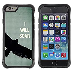 Suave TPU GEL Carcasa Funda Silicona Blando Estuche Caso de protección (para) Apple Iphone 6 / CECELL Phone case / / Bird Text Motivational Eagle /