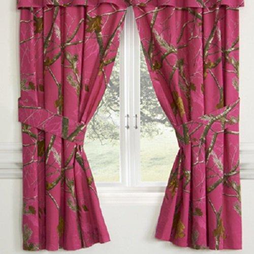 Realtree AP Fuchsia Hot Pink Camo 8 Pc Full Comforter Set and Window Dressings