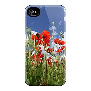 For MeSusges Iphone Protective Case, High Quality For Iphone 4/4s Poppy Skin Case Cover