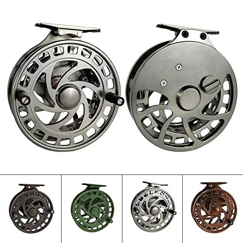 Z Aventik 2nd Generation High Reel Feet Center-Pin Floating Reel CNC machined Easy Line Through (Gunsmoke)