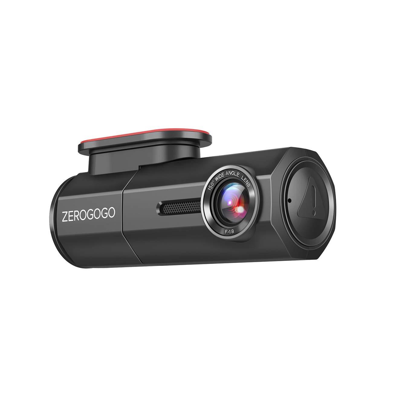 Zerogogo RW100 WiFi Dash Cam Full HD 1080P Car Camera w/Sony Sensor, Magnetic Bracket, Night Vision, Super Capacitor, G-Sensor, 360 Degree Rotatable Lens