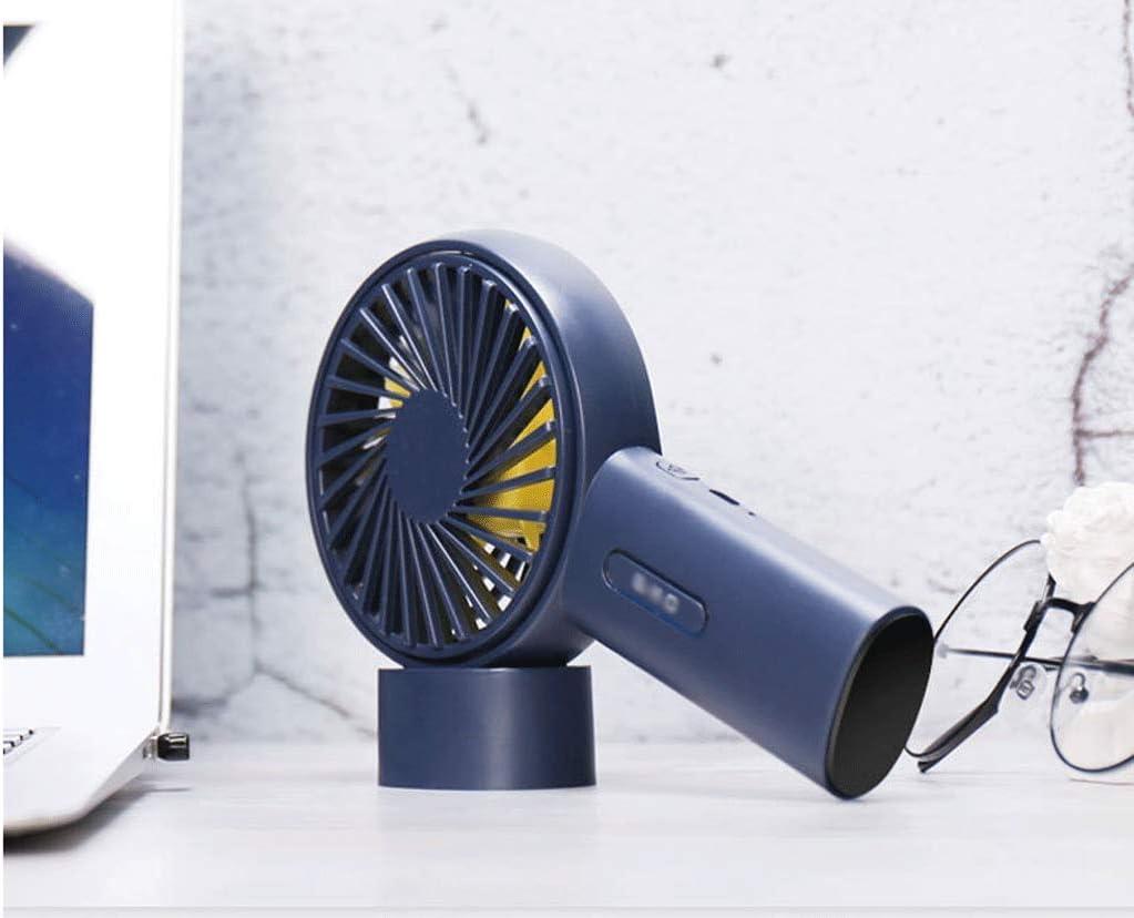 DONGY New Creative Multifunctional Handheld Round Plastic Fan Can Shake Head Mini Desktop USB Charging Fan Fan Student Outdoor Portable Mute Small Fan Handheld//Desktop Dual-use Fan Angle Adjustable