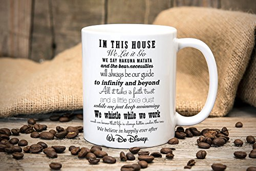 Hakuna Matata in this house we do Disney, Fun Mug, Great gift for birthdays, Tea mug, Coffee mug, Printed mug, Disney Quote Mug, 11oz, 15oz, gift (Fox Tag Mug)
