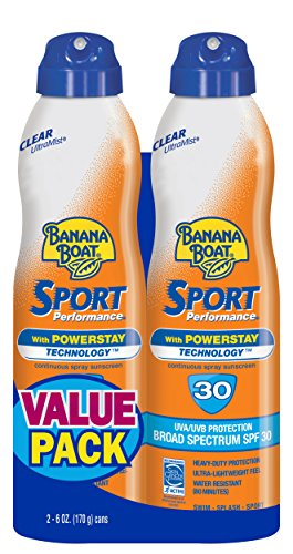 Banana Boat Ultramist SPF 30 Sport Performance Clear Twinpack, 12 once