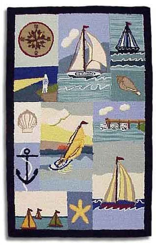 Nautical Rectangle Rug - Medium