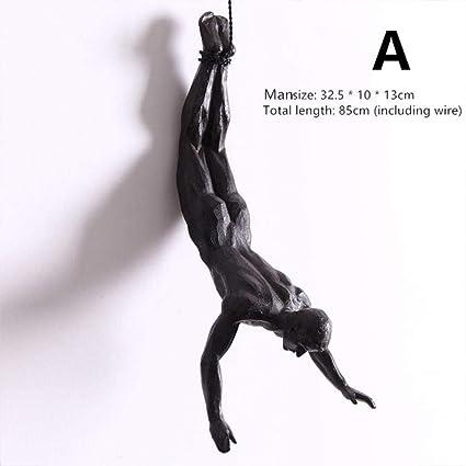 SHYSBV Esculturas de Pared Escultura De Resina Escalada En ...