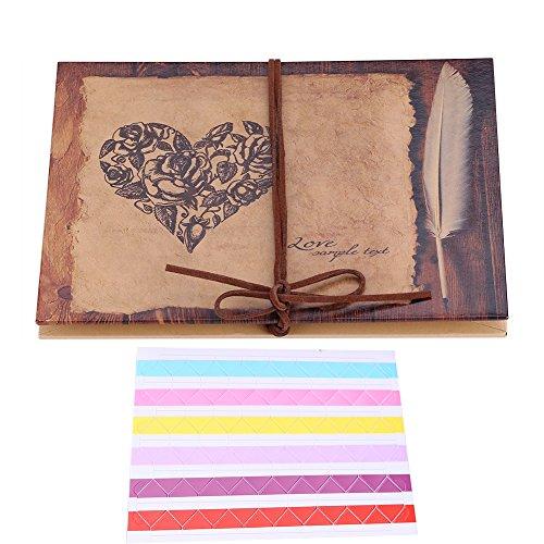 DIY Álbum de Fotos Libros de Firmas, Álbum de Fotos Hecho a Mano de Papel Kraft Scrapbooking Album Cuaderno, Regalo único...