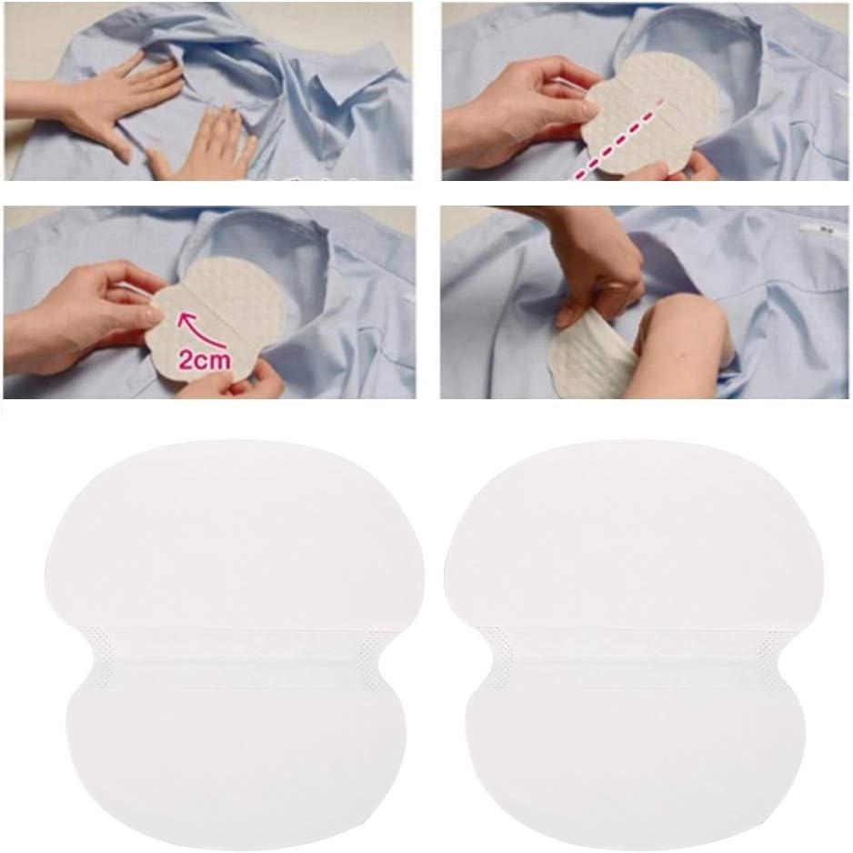 40pcs Pure Color Soft Armpit Sticker Unisex Underarm Sweat Dress Clothing Absorbent Pads Disposable Sweat Pads