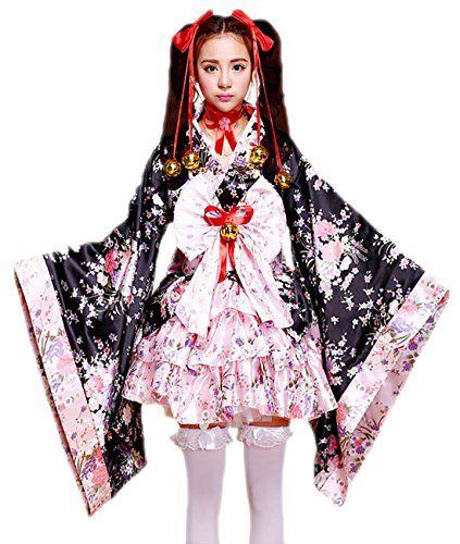 Sheface Women's Cosplay Lolita Fancy Dress Japanese Kimono Anime Costumes (XXX-Large, P01 Pink) ()