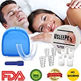 Snoring Aid Solution Anti Snoring Mouthpiece, 4 Set Snore Stopper Nose Vents Nasal