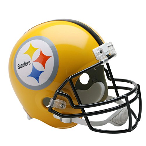 (Riddell Pittsburgh Steelers Gold 2007 Officially Licensed Replica Throwback Helmet)