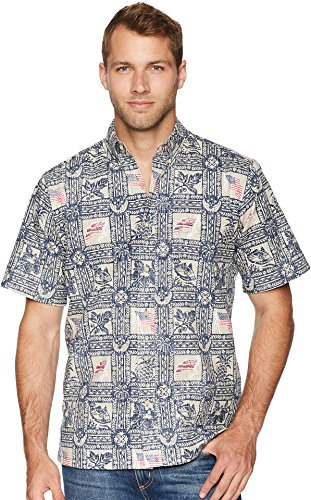 Reyn Spooner Men's Summer Commemorative Kloth Classic Fit Shirt, Nantucket Red, M by Reyn Spooner