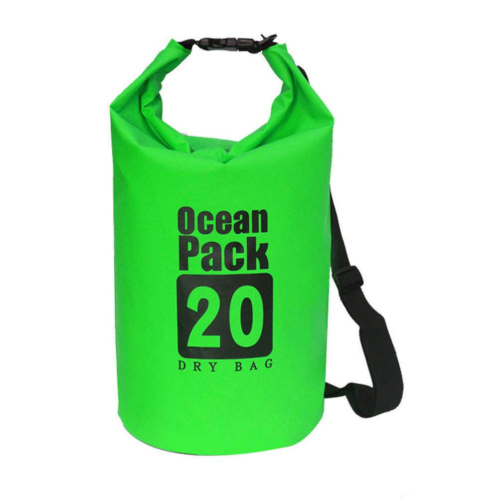 bDSof0u89yw 5/10/15/20/30L Outdoor Lightweight Swimming Waterproof Camping Rafting Foldable Dry Bag Green 2L